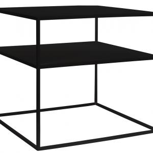 Nordic Design Černý kovový konferenční stolek Moreno II. 50 x 50 cm - Výška45 cm- Šířka 50 cm
