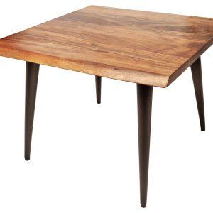Moebel Living Masivní akátový konferenční stolek Logem 60 x 60 cm - Šířka60 cm- Výška 45 cm