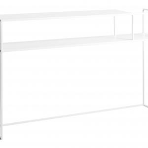 Nordic Design Bílý kovový toaletní stolek Moreno 120 cm x 25 cm - Výška75 cm- Šířka 120 cm