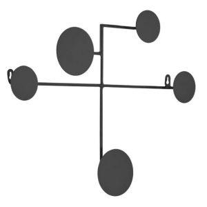 Černý kovový nástěnný věšák LaForma Vianela 52 x 40 cm - Výška40 cm- Šířka 52 cm
