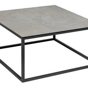 Moebel Living Šedý keramický konferenční stolek Batik 75 x 75 cm - Šířka75 cm- Výška 40 cm