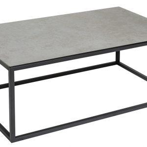 Moebel Living Šedý keramický konferenční stolek Batik 100 x 40 cm - Šířka100 cm- Výška 60 cm
