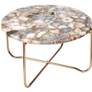 Moebel Living Achátový konferenční stolek Linex 62 cm - Šířka62 cm- Výška 33 cm
