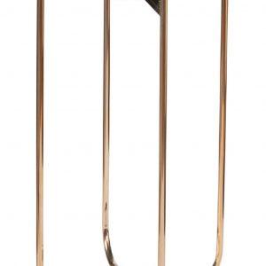 Moebel Living Zelený mramorový odkládací stolek Linex 35 cm - Šířka35 cm- Výška 62 cm
