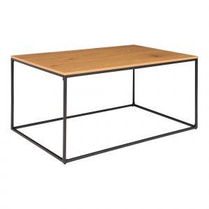 Nordic Living Dubový kovový konferenční stolek Winter 90 x 60 cm - Výška45 cm- Šířka 60 cm