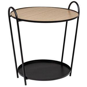 Černý kovový kulatý konferenční stolek Bizzotto Everitt 57 cm - Výška57 cm- Průměr 51 cm
