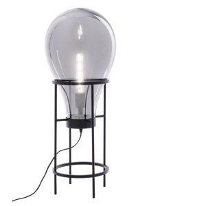 Černá kovová stolní lampa Bizzotto Shine Bulb - Výška78 cm- Průměr 30 cm