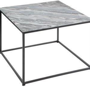 Moebel Living Šedý mramorový konferenční stolek Giraco 50 x 50 cm - Šířka50 cm- Výška 41 cm