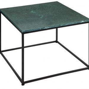 Moebel Living Zelený mramorový konferenční stolek Giraco 50 x 50 cm - Šířka50 cm- Výška 41 cm