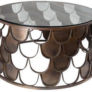 Moebel Living Měděný konferenční stolek Poison 70 cm - Šířka70 cm- Výška 35 cm