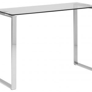 SCANDI Skleněný toaletní stolek Divo 110 x 40 cm - Výška76 cm- Šířka 110 cm