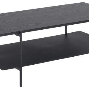 SCANDI Černý dřevěný konferenční stolek Toren 115 x 60 cm - Šířka115 cm- Výška 40 cm