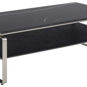 SCANDI Černý mramorový konferenční stolek Nuova130 x 72
