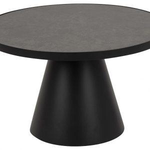 SCANDI Černý keramický konferenční stolek Sandro 65