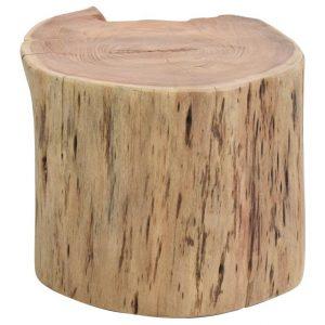Moebel Living Masivní akátový konferenční stolek Houston 50x45 cm - Výška30 cm- Šířka move 50 cm