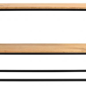 Nordic Design Dubový toaletní stolek Julia 100 x 30 cm s černou podnoží - Výška75 cm- Šířka 100 cm