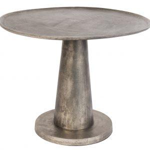 Stříbrný konferenční stolek DUTCHBONE Brute O 63 cm - Maximální nosnost move25 kg- Deska move Kov