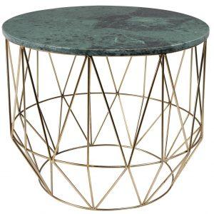 Zelený mramorový konferenční stolek DUTCHBONE Boss 51 cm - Průměr51 cm- Maximální nosnost move 20 kg