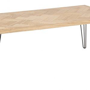 SCANDI Dřevěný konferenční stolek Nomia - Výška45 cm- Šířka 120 cm