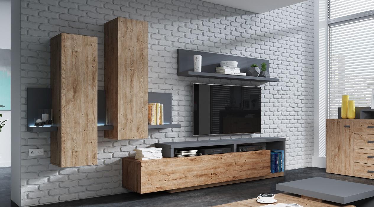 Designová obývací stěna Bigla