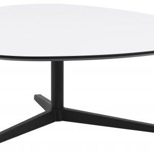 SCANDI Bílý konferenční stolek Barnsby 103 x 95 cm - Výška41 cm- Šířka move 103 cm