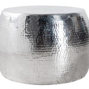 Moebel Living Stříbrný konferenční stolek Cuvre 60 cm - Průměr60 cm- Výška 40 cm