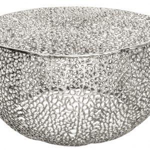 Moebel Living Stříbrný konferenční stolek Gepe 80 cm - Průměr80 cm- Výška 40 cm