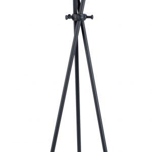 White Label Living Černý kovový věšák WLL DARWIN - Výška174 cm- Šířka 44 cm