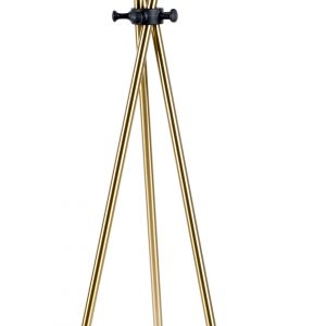 White Label Living Zlatý kovový věšák WLL DARWIN - Výška174 cm- Šířka 44 cm