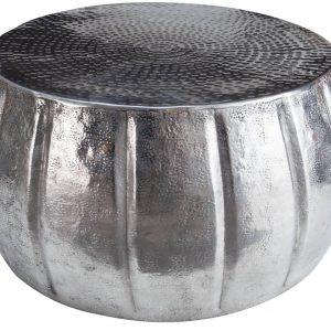 Moebel Living Stříbrný konferenční stolek Escobar 65 cm - Výška31 cm- Průměr 65 cm