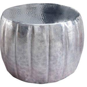 Moebel Living Stříbrný konferenční stolek Escobar 55 cm - Výška36 cm- Průměr 55 cm