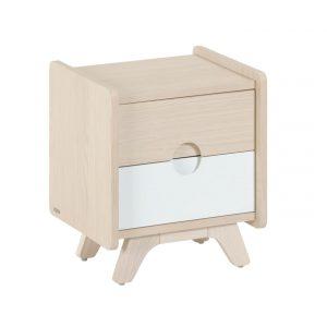 Dřevěný noční stolek LaForma Nunila 40 x 40 cm - Výška47 cm- Šířka 40 cm