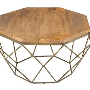 Moebel Living Masivní mangový konferenční stolek Centurio 69 cm - Šířka69 cm- Výška 38 cm