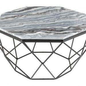 Moebel Living Šedý mramorový konferenční stolek Centurio 69 cm - Šířka69 cm- Výška 38 cm