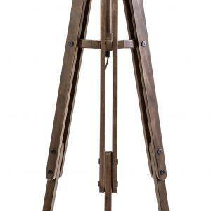 Moebel Living Bílá stojací lampa Trisona - Šířka55 cm- Výška 158 cm