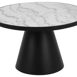 SCANDI Bílý mramorový konferenční stolek Sandro 65