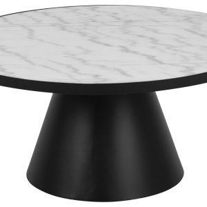 SCANDI Bílý mramorový konferenční stolek Sandro 85
