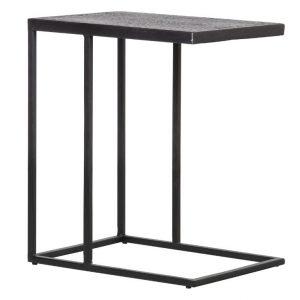 Hoorns Černý kovový odkládací stolek Fabe 55 x 45 cm - Výška55 cm- Šířka 45 cm