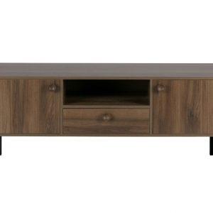 Hoorns Oříškově hnědý televizní stolek Prano 145 x 40 cm - Výška48 cm- Šířka 145 cm
