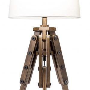 Moebel Living Bílá stolní lampa Trisona - Šířka30 cm- Výška 59 cm