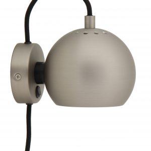 Stříbrná matná nástěnná lampa Frandsen Ball 12 cm - Výška10 cm- Šířka 16 cm
