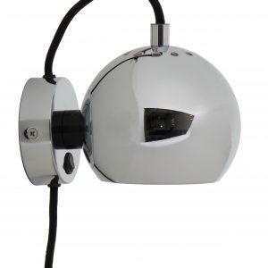 Chromová lesklá nástěnná lampa Frandsen Ball 12 cm - Výška10 cm- Šířka 16 cm