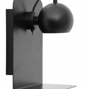 Černá matná kovová nástěnná lampa Frandsen Ball USB - Výška30 cm- Šířka 22 cm