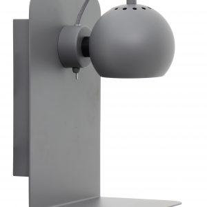 Světle šedá matná kovová nástěnná lampa Frandsen Ball USB - Výška30 cm- Šířka 22 cm