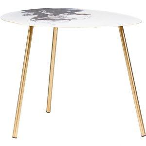 Bílo černý kovový konferenční stolek Bizzotto Desur 50 x 58 cm - Deska moveSmaltovaný povrch- Podnož move Lakovaná ocel
