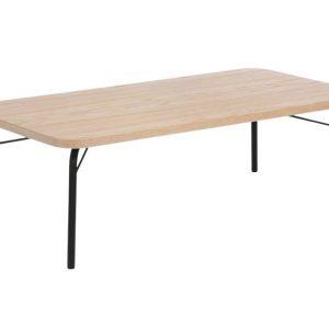 Dubový konferenční stolek Woodman Ashburn s černou podnoží 125 x 65 cm - Výška60 cm- Šířka move 125 cm