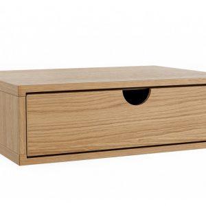 Dubový závěsný noční stolek Woodman Farsta 30 x 40 cm - Výška15 cm- Korpus move Dubová dýha