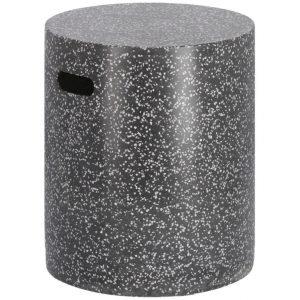 Černý cementový odkládací stolek LaForma Jenell 35 cm - Výška46 cm- Šířka 35 cm