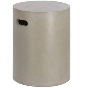 Šedý cementový odkládací stolek LaForma Jenell 35 cm - Výška46 cm- Šířka 35 cm