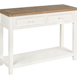 Bílý dřevěný toaletní stolek Bizzotto Elvia 105 x 38 cm - Výška78 cm- Šířka 105 cm